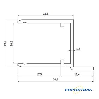 Профиль дверной СТК-1 для сантехнических перегородок из ЛДСП 16 мм