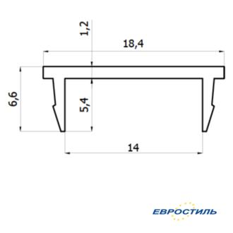 Профиль-крышка СТК-4 для сантехнических перегородок и туалетных кабин из ЛДСП 16 мм