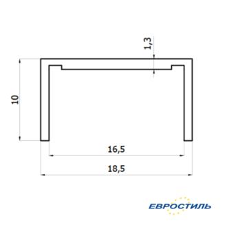 Профиль окантовочный СТК-6 для сантехнических перегородок и туалетных кабин из ЛДСП 16 мм