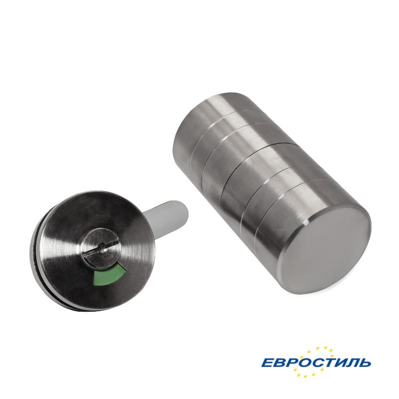 Комплект STC-3 Metal для сантехнических перегородок и туалетных кабин - Евростиль