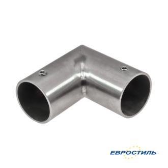 Угловой элемент из нержавеющей стали для трубы 25 мм для установка сантехнических перегородок и туалетных кабин - Евростиль