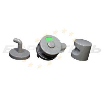 Комплект фурнитуры из пластика STCabine-4: ручки, завертка и крючок для сантехнических перегородок
