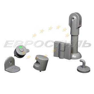Комплект фурнитуры STC-20 из пластика для сантехнических перегородок