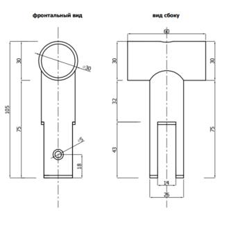Подвесной зажим на разделительную панель 12 мм сантехнической перегородки