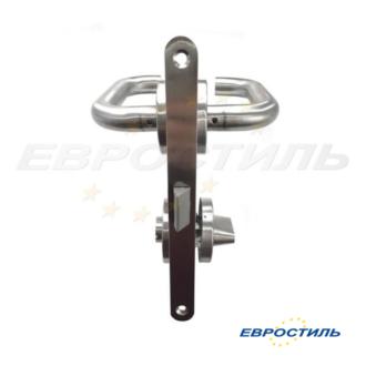 Комплект Apecs с нажимной ручкой для сантехнических перегородок и туалетных кабин из ЛДСП 25 мм- Евростиль