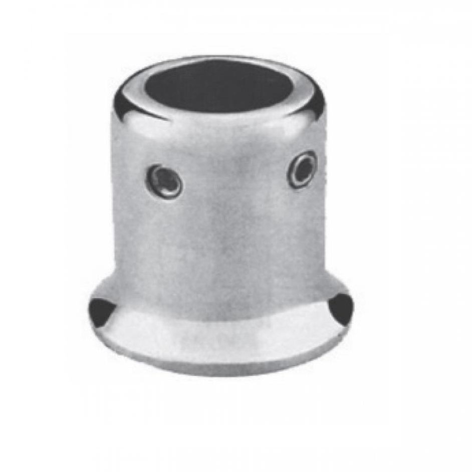 Соединитель труба-стена, матовый для стеклянных душевых