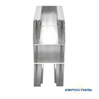 Напольный профиль 12-16 мм для сантехнических перегородок и туалетных кабин - Евростиль