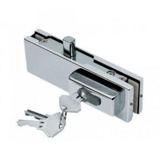 Угловой замок с ключом для стеклянных дверей